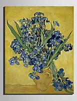 taille mini e-maison peinture à l'huile bouteille moderne d'iris main pure dessiner la peinture décorative frameless