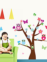 Wall Stickers Wall Decals Style The New Tree Owl Waterproof Removable PVC Wall Stickers