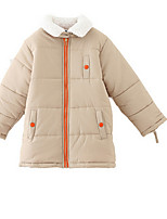 Girl's Yellow Jacket & Coat Cotton / Polyester Winter