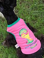 honden T-shirt Roze / Geel Zomer / Lente/Herfst Klassiek Modieus-Lovoyager