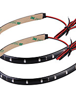 2pcs 30cm 15 LED Light Strip for car Green high brightness for Christmas