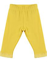Girl's Yellow / Gray Pants, Cotton Spring / Fall