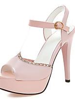 Women's Shoes Stiletto Heels/Platform/Open Toe Rhinestone Sandals Party & Evening/Dress Black/Blue/Pink/White/Almond
