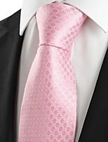 KissTies Men's Classic Pink Dot Microfiber Tie Necktie For Wedding Holiday Valentine With Gift Box