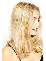 Women Fashion Simple Stars Pattern Spiral Hairpin Rhinestone Pearl Flowers Spring Hairpin   6 Piece