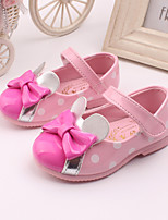 Girls' Shoes Wedding / Party & Evening / Dress Comfort Leather Loafers Pink / Red / White / Peach