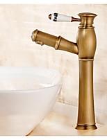 Montage Mitigeur un trou in Laiton Antique Robinet lavabo