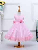 Girl's Cotton Summer Rose Decoration Full Dress