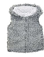 Girl's Gray Vest Faux Fur Spring / Fall