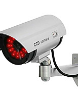 KingNEO 1pc White Wireless Fake Dummy Dome CCTV Security Camera LED light