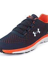 Zapatos Running Cuero / Tul Negro / Azul Hombre