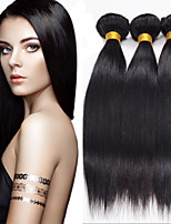 3PCS Brazilian Straight Hair Human Hair Weaves Natural Color 8-26 inch Virgin Hair