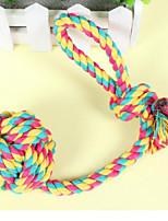 Durable Weave Ball Dog Training Deodorant Chew Toy(Random Color)