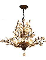 Vintage Crystal Flush Mount/E12/E14 7Lights/Metal Painting/ Living Room / Bedroom / Black OR Gold