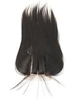 cierres delanteros cabello humano barato de cierre de encaje del cordón de Remy del cordón de cierre recta instock 3.5x4 yaki con el pelo