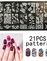 1PS Nail Art Seal Template Nail Lace Pattren 12x6CM