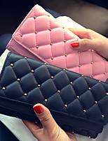 VENETA Women PU Tri-fold Clutch / Wallet / Card & ID Holder-Pink / Gold / Black