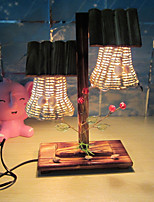 Creative Wood Double Light Sailing Lamp Decoration Desk Lamp Bedroom Lamp Gift for Kid
