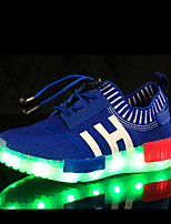Kid Boy Girl Unisex Upgraded USB Charging LED Light Sport Shoes Flashing Sneakers USB Charge  Luminous Flyknit Shoes