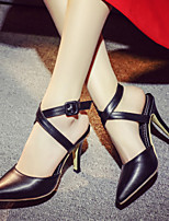 Women's Shoes Stiletto Heel Heels / Pointed Toe Heels Office & Career / Dress / Casual Black / Pink / White / Beige