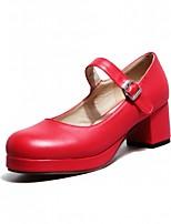 Women's Shoes Leatherette Chunky Heel Heels Heels Outdoor / Office & Career / Party & Evening