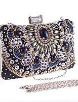 Women PU Baguette Clutch / Evening Bag / Wallet / Coin Purse-Black