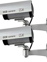 kingneo 2pcs outdoor nep / dummy-camera voor de beveiliging waterdicht cameratoezicht