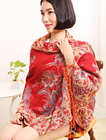 Oversized Thick Warm Cashmere Red Scarf Shawl Fall And Winter Wool Scarf
