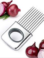 Stainless Steel Onion Holder Slicer Vegetable Tools Tomato Cutter Meat Hamstring Fork
