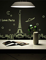 Florals Wall Stickers Plane Luminous Wall Stickers PVC