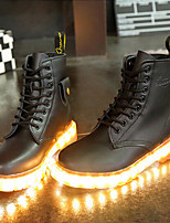 7 Colors Luminous Shoes Men Women Unisex Couple Lace-Up Toe Boot Martin boots Fashion Casual Flat Led Shoes Usb Charging