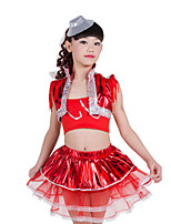 Jazz Children's Performance Spandex Sequins Tassel(s) 3 Pieces Outfits