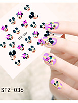 1pcs  Water Transfer Nail Art Stickers Fashion Mickey Lovely Cat Flower Dog Nail Art Design STZ36-40