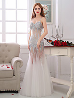 Formal Evening Dress Trumpet/Mermaid Spaghetti Straps Floor-length Tulle