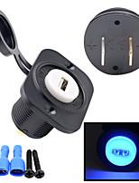 12v del automóvil motocicleta cargador USB de la consola 2.1a toma auto con placa fija
