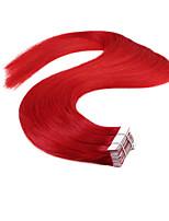 neitsi 20 '' 20pcs 50g extensões de trama pele vermelha Remy reta extensões do cabelo humano