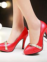 Chaussures Femme-Bureau & Travail / Habillé / Décontracté-Noir / Rose / Rouge / Blanc-Talon Aiguille-Talons / A Plateau-Talons-Similicuir