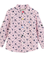 Girl's Pink Shirt Cotton Spring / Fall