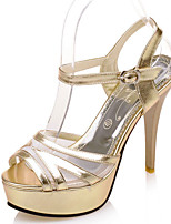 Women's Shoes Stiletto Heel Heels/Platform/Sling back/Open Toe Sandals Party & Evening/Dress Purple/Silver/Gold