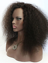 Joywigs  Afro Curl Human Hair Lace Front /Full Lace Wigs 150% Density Black Color Afro Curl Wig