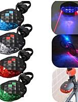 5LED Laser Cycling Safety Bicycle Rear Lamp Waterproof Bike Laser Tail Light Headlight Warning Lamp Flashing