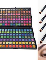 168 Palette de Fard à Paupières Sec / Mat / Lueur Fard à paupières palette Poudre GrandMaquillage Quotidien / Maquillage d'Halloween /