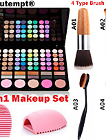 3in1 Makeup Set(78 Colors 3in1 60+12 Smoky Eyeshadow 6 Blusher Makeup Cosmetic Palette+1 Blush Brush+1 Brush Egg)