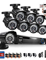 ANNKE® 8CH CCTV System 960H DVR 8PCS 800TVL IR Weatherproof Outdoor CCTV Camera Home Security System Surveillance Kits