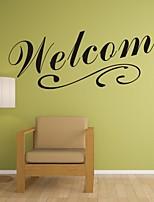 Parole e citazioni / Romanticismo / Fashion / Astratto / Fantasia Adesivi murali Adesivi aereo da parete,PVC M:20*55cm/ L:42*117cm