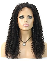 Fashion 8-24inch Kinky Afro Curly Natural Color 100% Brazilian Human Hair Wig Lace Front Wigs