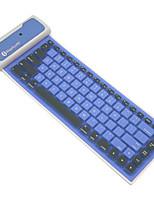 do bluetooth dobrável de silicone teclado virtual impermeável para ios / andróides / sistema de janelas