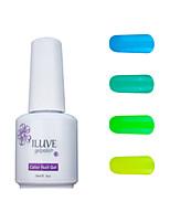ILuve Gel Nail Polish Set - Pack Of 4 - Long Lasting 3 Weeks Soak Off UV Led Gel Varnish – For Nail Art #4015