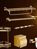 Set de Accesorios de Baño,Contemporáneo Ti-PVD Montura en Pared