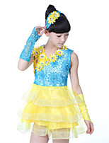 Performance Children's Sweet  Cotton / Polyester Flowers Outfits
